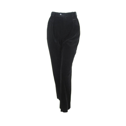 Yves Saint-Laurent Trousers 1970's Velvet Vintage - regenerationvintageclothing