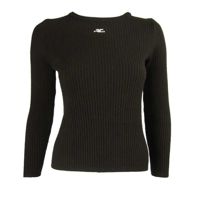 Vintage Clothing: 1970's Courreges Ribbed Sweater