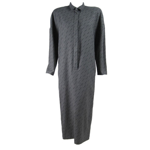 Krizia Dress 1980's Gray Wool Vintage - regenerationvintageclothing