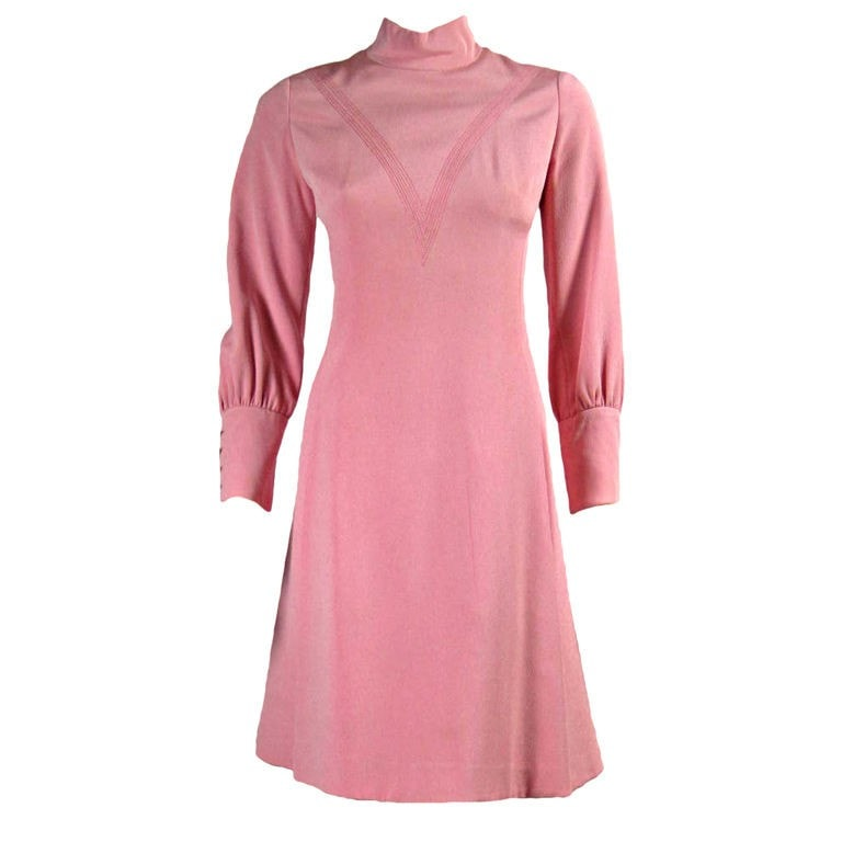 Galanos Dress Bubblegum 1960's Pink Vintage - regenerationvintageclothing