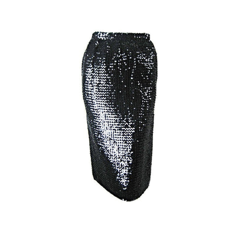 Vintage Clothing: 1980's Ungaro Black Sequined Pencil Skirt