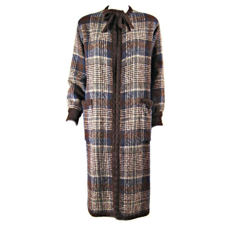 Missoni Coat 1970's Plaid Sweater Vintage - regenerationvintageclothing