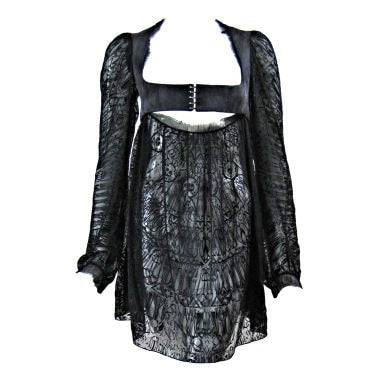 Alexander McQueen Mini Dress Semi-Sheer Micro Vintage - regenerationvintageclothing