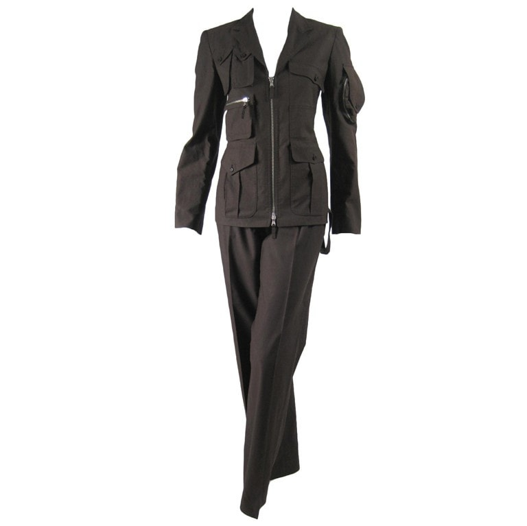 Vintage Clothing: 1990's Jean-Paul Gaultier Military-Inspired Trouser Suit