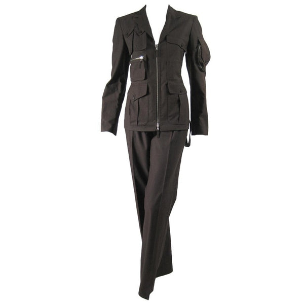 Jean-Paul Gaultier Trouser Suit 1990's Military-Inspired Vintage - regenerationvintageclothing