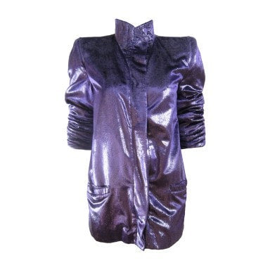 Krizia Jacket 1980's Purple Vintage - regenerationvintageclothing