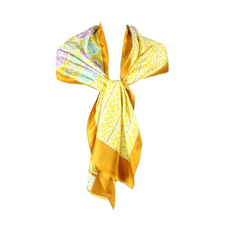 Vintage Clothing: Vintage 1970's Jacques Esterel Printed Silk Scarf