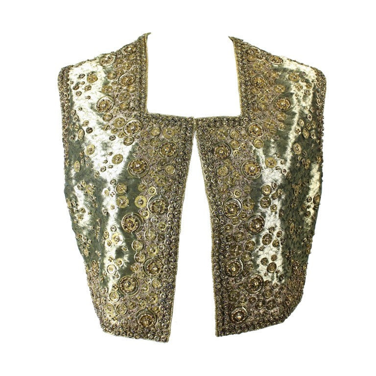 Vintage Clothing: Early 2000's Joanna Mastroianni Beaded Gold Vest