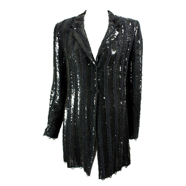 Badgley Mischka Beaded & Sequined Jacket Vintage - regenerationvintageclothing