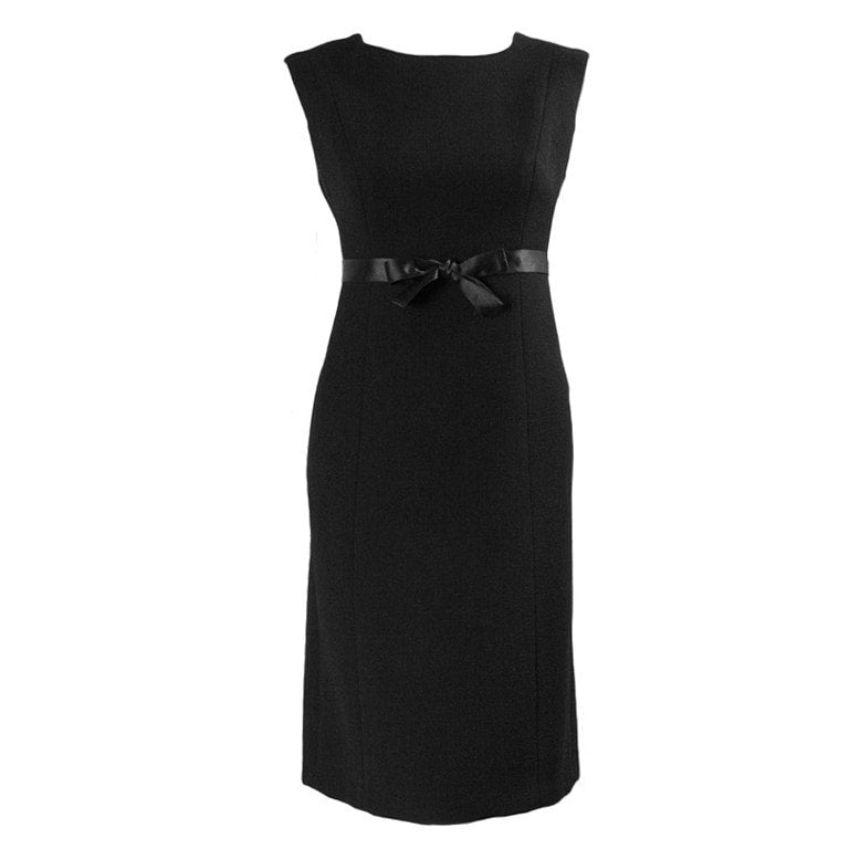 Vintage Dresses - 1960's Gustave Tassell Black Shift Dress