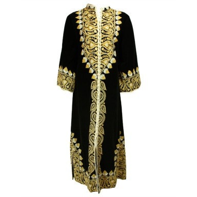 Vintage Clothing: 1960's Moroccan Embroidered Velvet Caftan