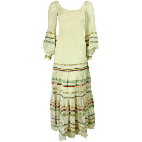 Giorgio Di Sant'Angelo 1970's Knit Dress Vintage - regenerationvintageclothing