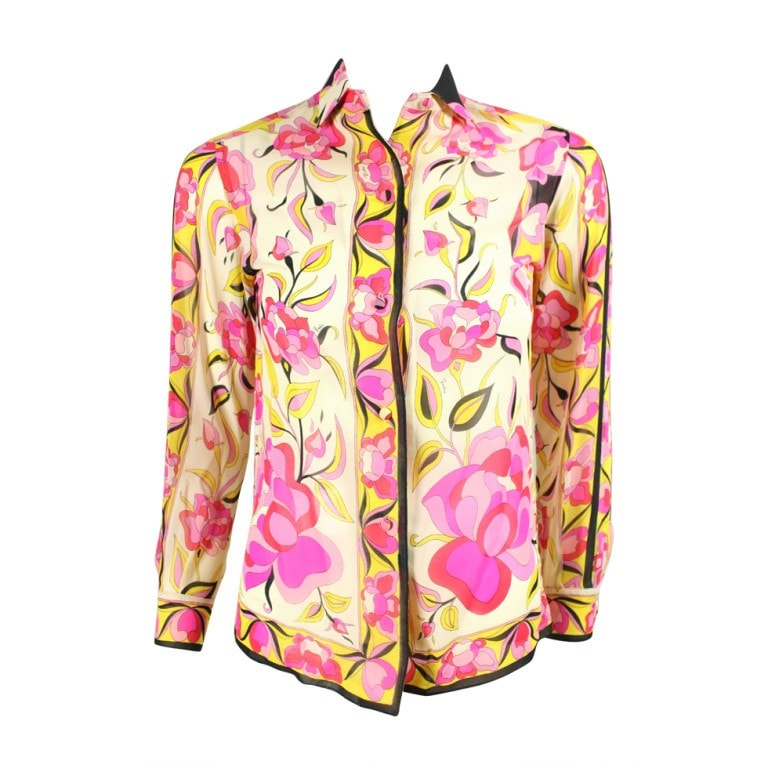 Vintage Clothing: 1960's Pucci Printed Silk Blouse