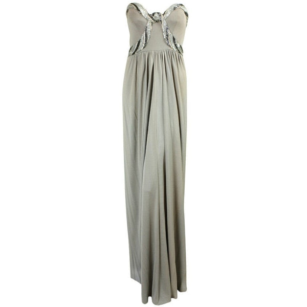 Bob Mackie Gown 1970's Gray Jersey Vintage - regenerationvintageclothing