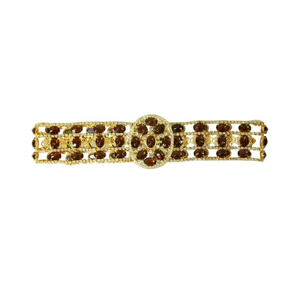 Kenneth Jay Lane Belt 1960's Bejeweled Filigree Vintage - regenerationvintageclothing