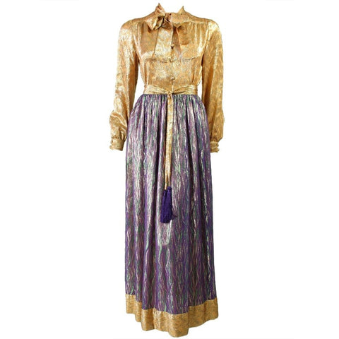 Adolfo Ensemble 1970's Metallic Vintage - regenerationvintageclothing