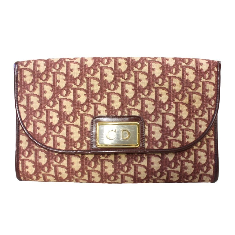 Vintage Clothing: 1970's Christian Dior Monogram Handbag & Change Purse