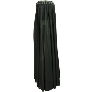 Vintage 1970's Black Pucci Gown With Rhinestone Accents