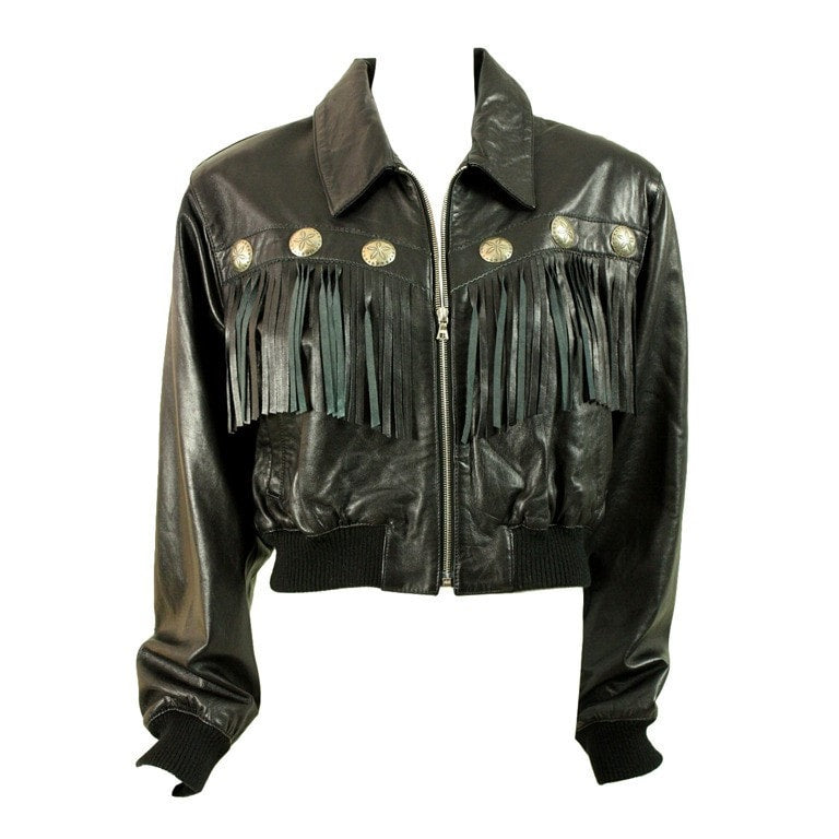 Vintage Clothing: 1980's North Beach Fringed Leather Jacket