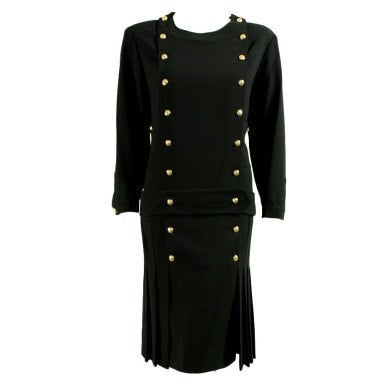 Chanel Dress 1990's With 1920's Styling Vintage - regenerationvintageclothing