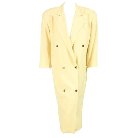 Jean-Paul Gaultier Trench Coat for Gibo 1980's Double-Breasted Vintage - regenerationvintageclothing