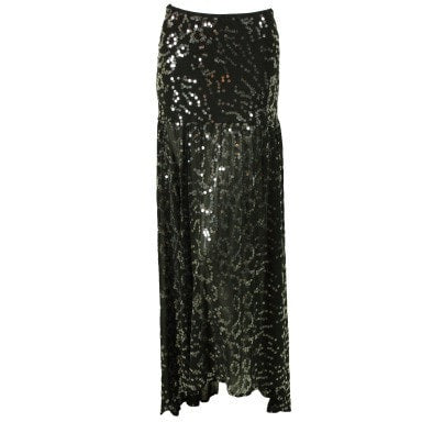 Ghost Skirt 1990's Sequined Vintage - regenerationvintageclothing