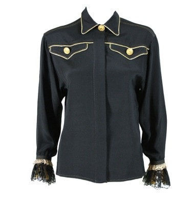 Vintage Clothing: 1990's Versace Western-Style Silk Blouse