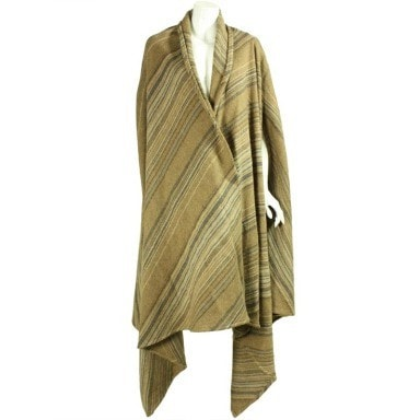 Vintage Clothing: 1980's Issey Miyake Striped Wool Cape