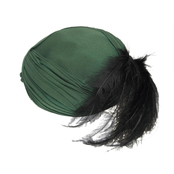 Vintage Clothing: Edwardian Green Jersey Turban