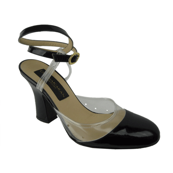 Vintage Clothing:  1990's Donna Karan Patent Leather And Vinyl Heels