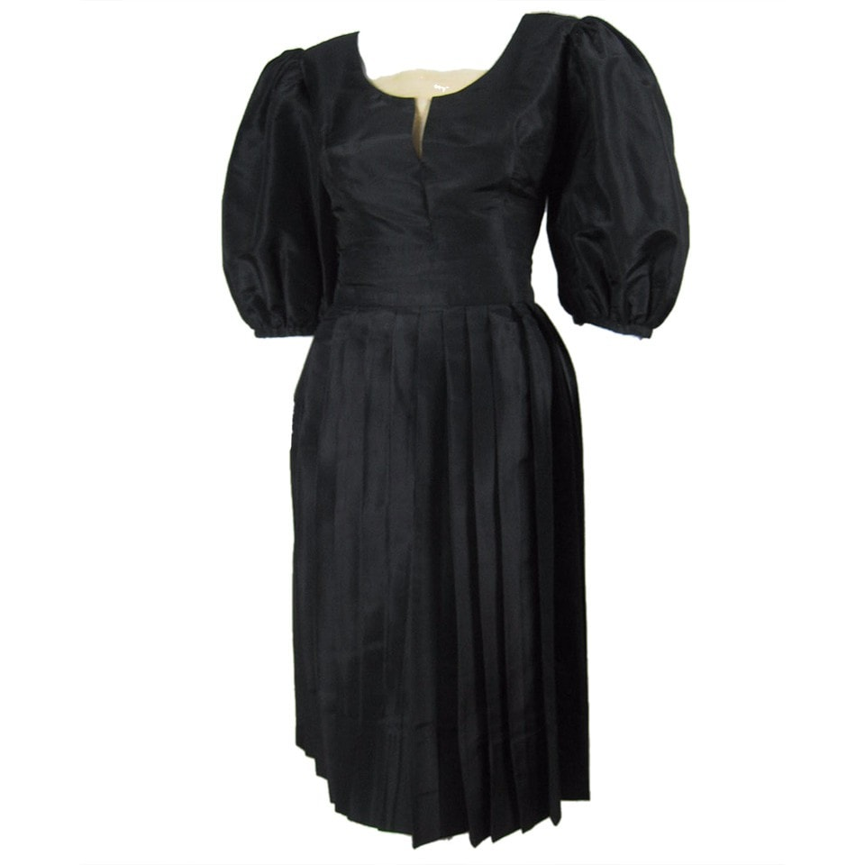 Vintage Clothing: 1950's Klein Black Silk Ensemble