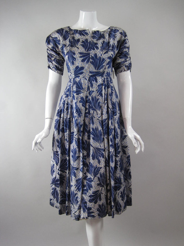 1950's Cocktail Dress Periwinkle Vintage - regenerationvintageclothing
