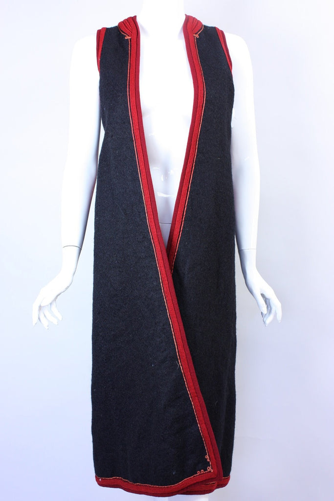 Eastern European Vest Long Vintage - regenerationvintageclothing