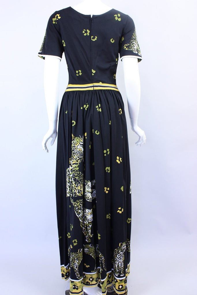 1970's Dress Leopard Print Vintage - regenerationvintageclothing