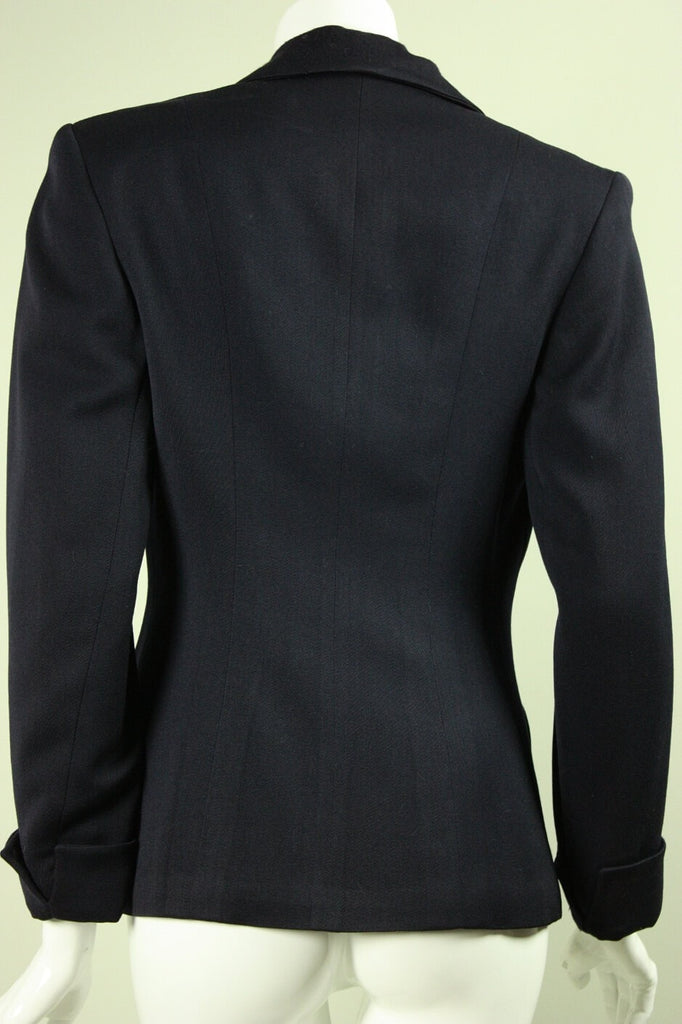 1940's Jacket Navy Beaded Gabardine Vintage - regenerationvintageclothing