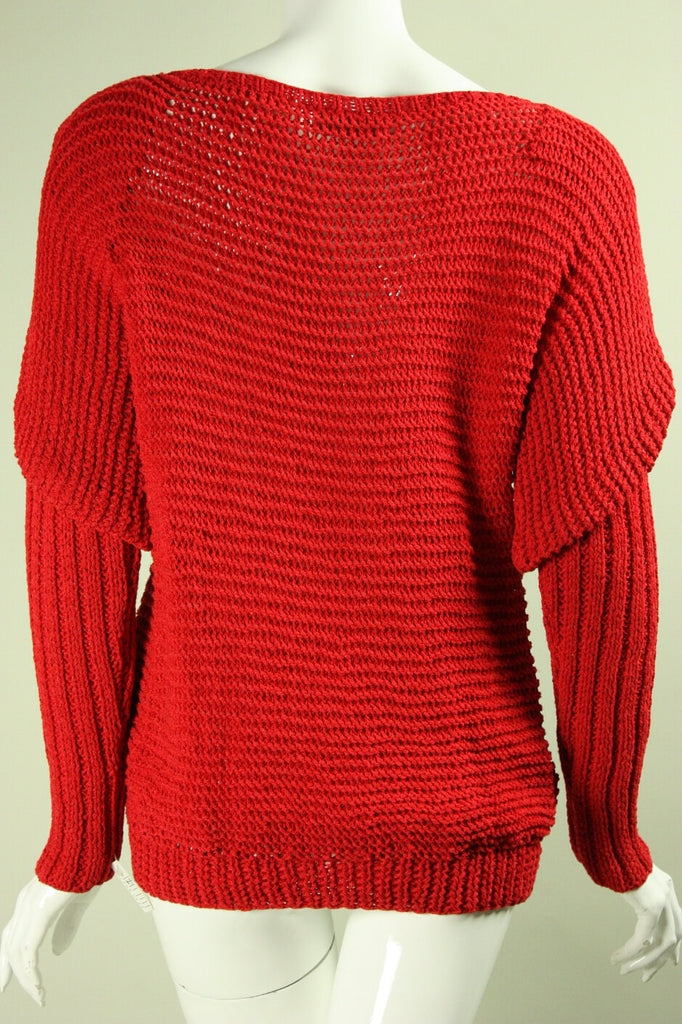 1980's Sweater Roberta and Brenda Red Vintage - regenerationvintageclothing