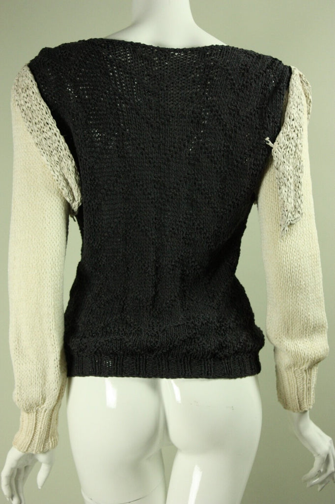 1980's Sweater Roberta and Brenda Knit Vintage - regenerationvintageclothing