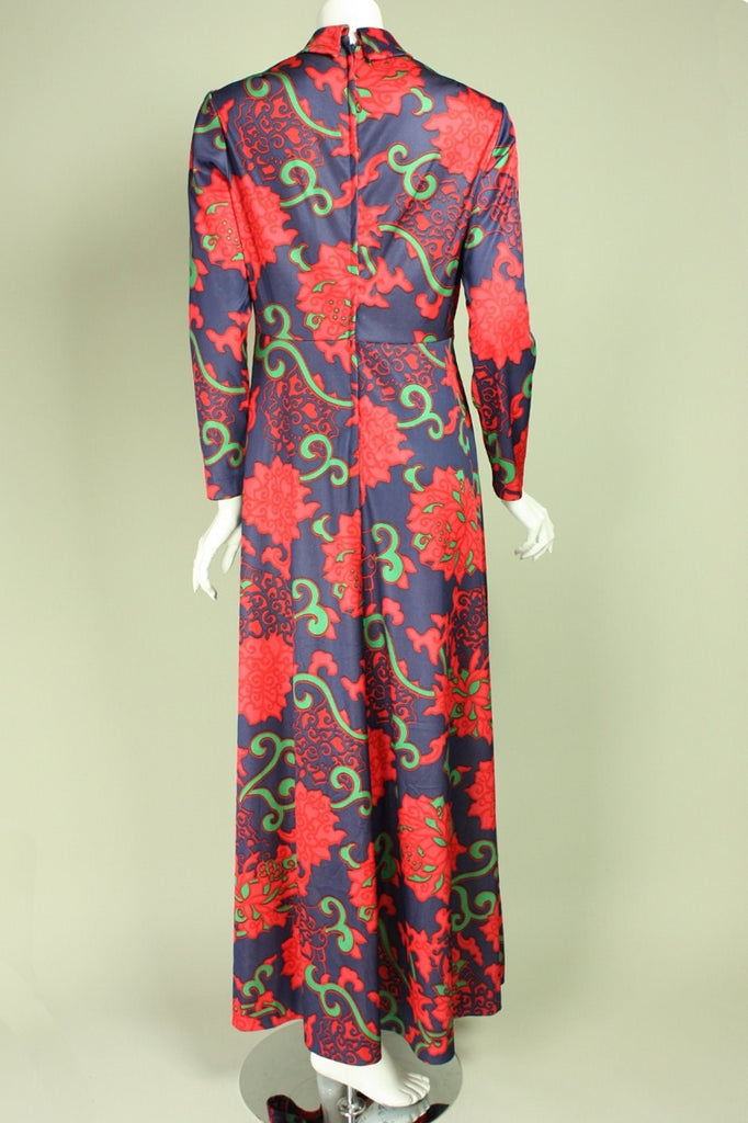 1970's Maxi Dress Emilio Borghese Vintage - regenerationvintageclothing