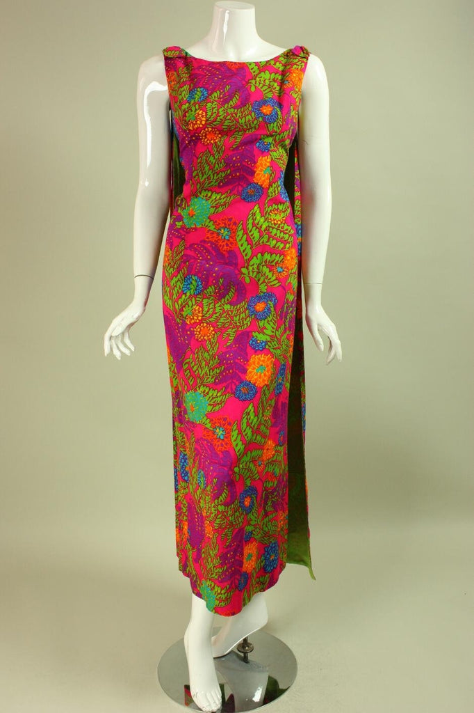 Vintage 1970's Floral Hawaiian Dress