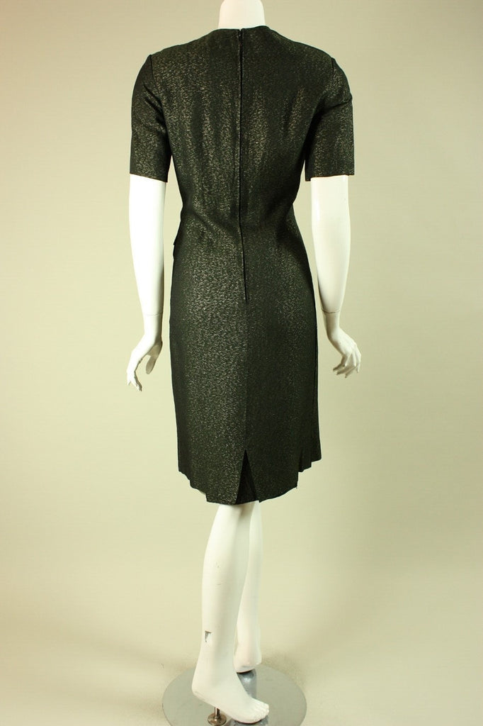 1950's Cocktail Dress Green Custom Vintage - regenerationvintageclothing