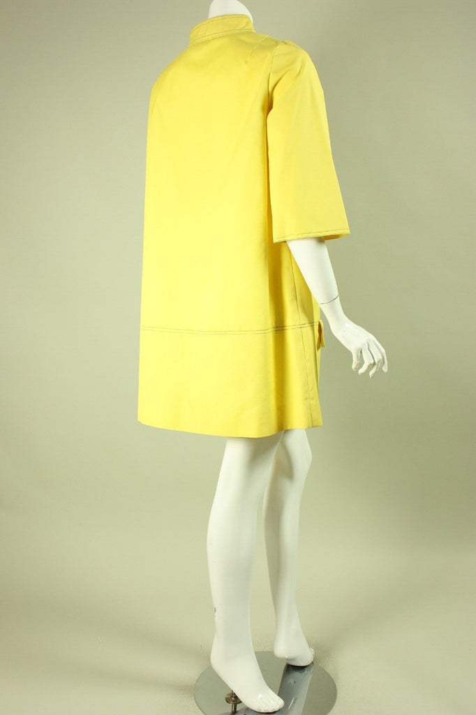1960's Mini Dress Day Glo Yellow Vintage - regenerationvintageclothing