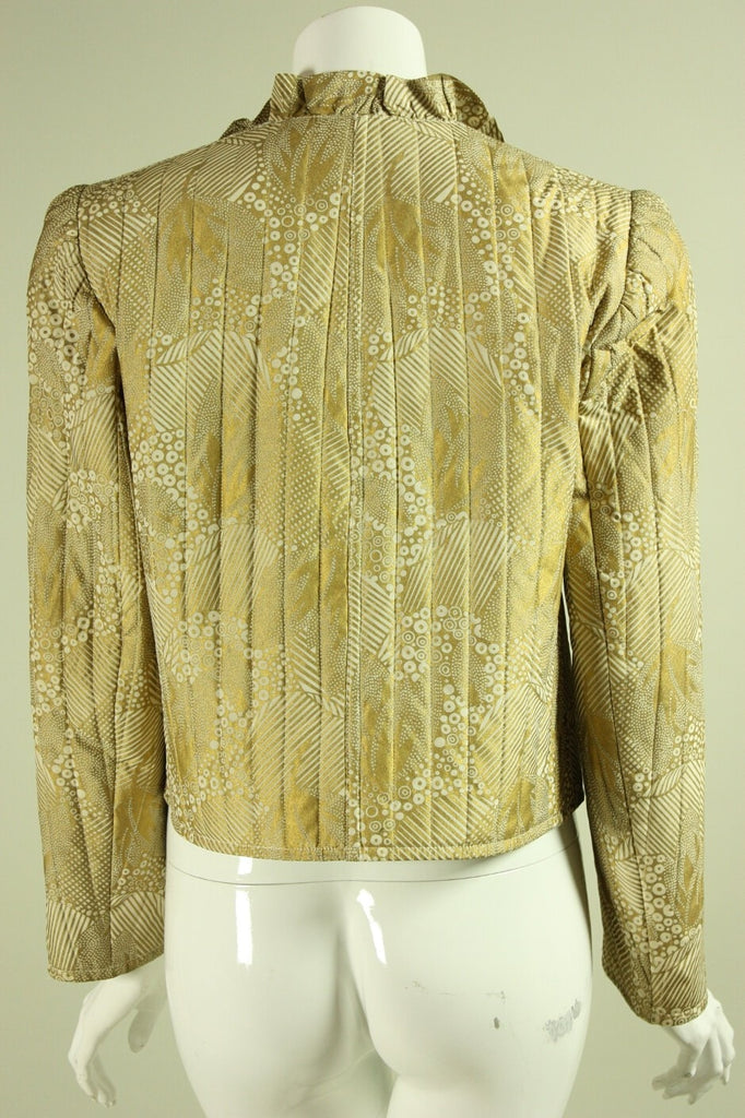1980's Quilted Silk Jacket Vintage - regenerationvintageclothing