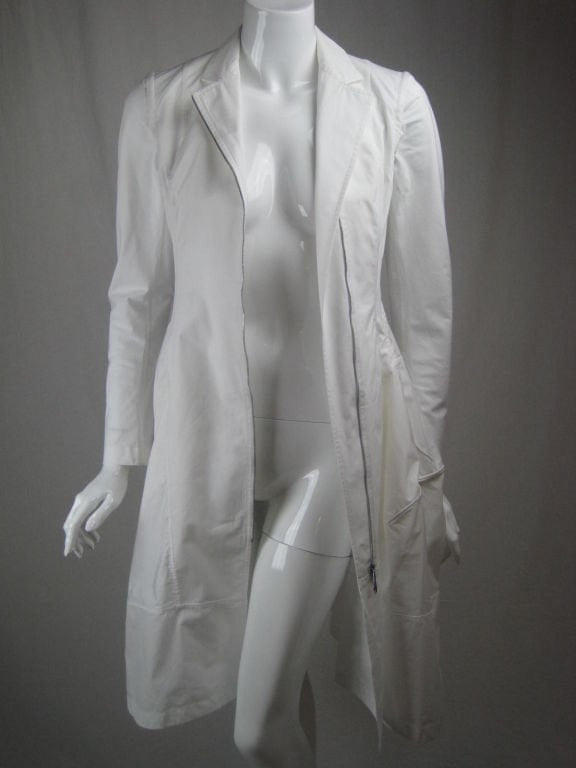 Donna Karan Dress 1990's White Asymmetrical Vintage - regenerationvintageclothing