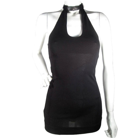 Jean-Paul Gaultier Top 1990's Racerback with Leather Collar Vintage - regenerationvintageclothing