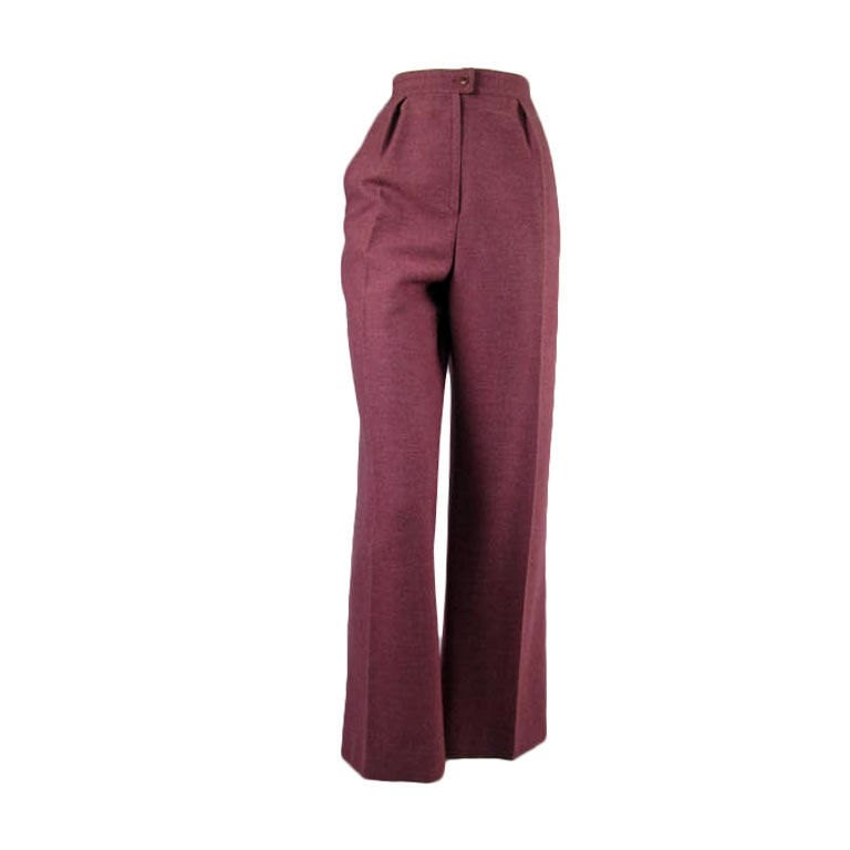Vintage Clothing: 1970's Givenchy High-Waisted Trousers