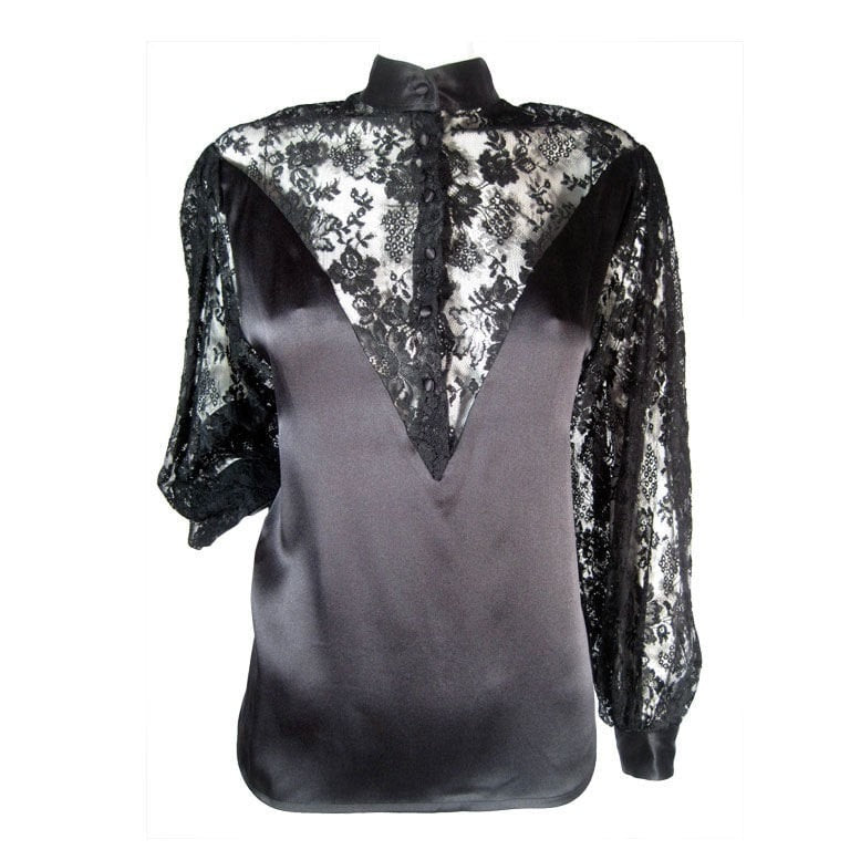 Vintage Clothing: 1980's Ted Lapidus Couture Lace Blouse