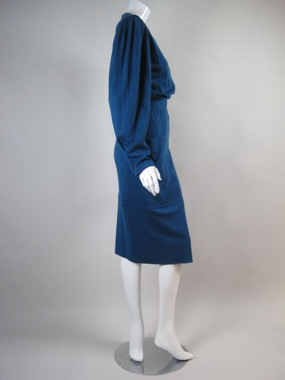 Vintage 1980's Teal Ungaro Dress