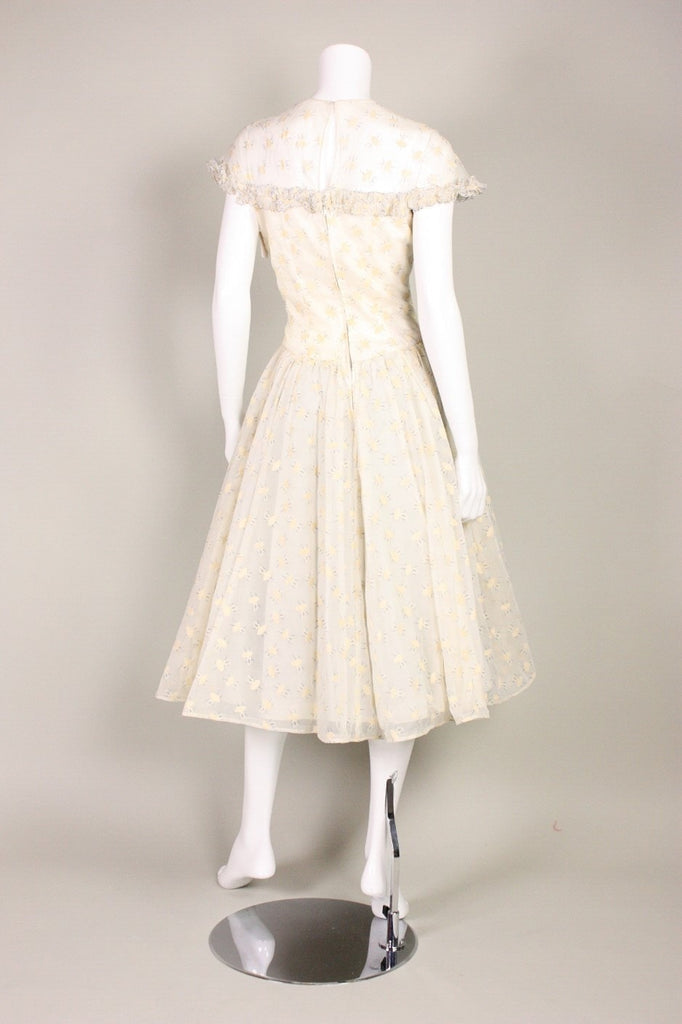 1950's Dress Jane Andre with Ballerina Print Vintage - regenerationvintageclothing