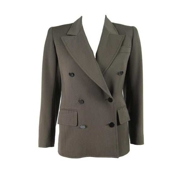 Yves Saint-Laurent Blazer 1970's Double-Breasted Military Vintage - regenerationvintageclothing