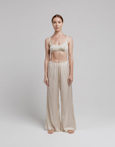 Silk Lounge Pant - Almond